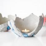 Betonowe świeczniki DIY