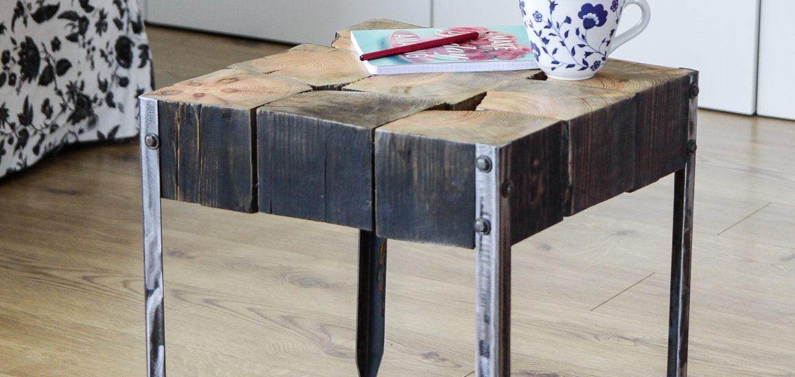 Stolik kawowy ze starych belek  by PAPA Timber