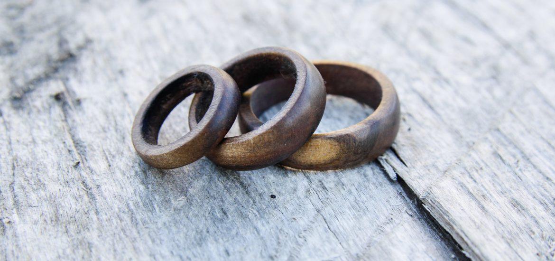Drewniany pierścień PAPA Timber