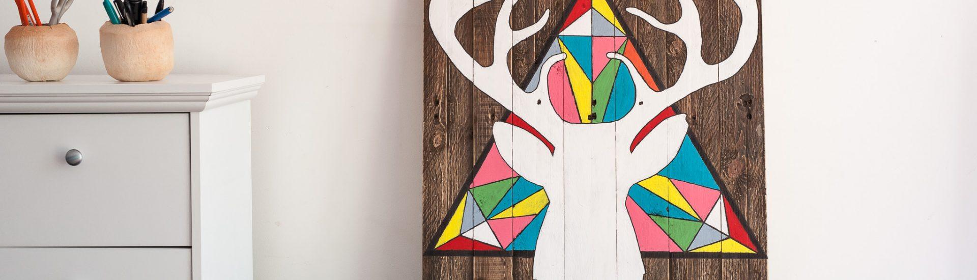 wall art reindear