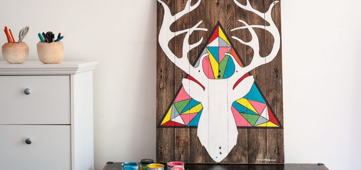 wall art reindear